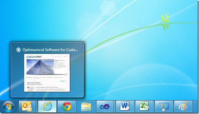 Windows 7 thumbnail previews
