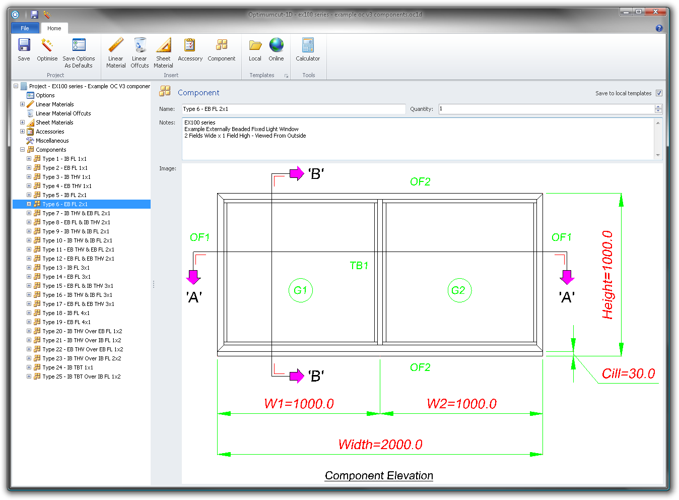 Our blog about linear material optimization cutting lists for Window elevation