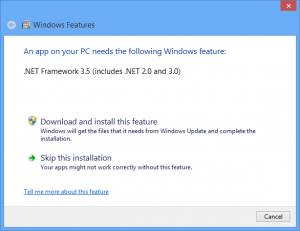 Windows 8 Add Feature