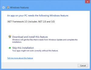 Windows 8 Add Feature